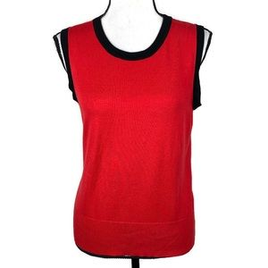 3/$20 Audrey & Grace Red Sleeveless Top Blouse